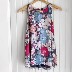 Loft Floral Pattern Sleeveless Top U